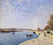 Alfred Sisley Saint-Mammes et les Bords du Loing oil painting picture wholesale