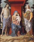 Andrea Mantegna The Virgin and Child with the Magadalen and Saint John the Baptist oil painting picture wholesale
