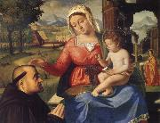 Andrea Previtali The Virgin and Child with a Donor oil painting picture wholesale