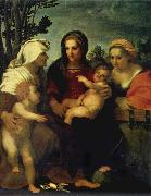 Andrea del Sarto Madonna and child with Sts Catherine and Elizabeth,and St John the Baptist oil painting picture wholesale