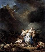 Anicet-Charles-Gabriel Lemonnier Apollo and Diana Attacking Niobe and her Children oil painting