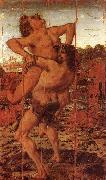 Antonio Pollaiuolo Hercules and Antaeus Time oil