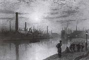 Atkinson Grimshaw Reflections on the Aire On Strike oil painting picture wholesale