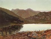 Atkinson Grimshaw Blea Tarn at First Light,Langdale Pikes in the Distance oil painting picture wholesale