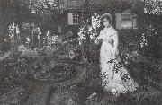 Atkinson Grimshaw The Rector-s Garden Queen of the Lilies oil painting picture wholesale