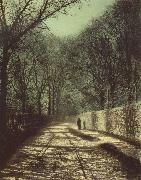 Atkinson Grimshaw Tree Shadows on the Park Wall,Roundhay Park Leeds oil