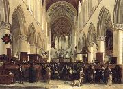 BLEKER, Gerrit Claesz THe Interior of the Grote Kerk,Haarlem oil