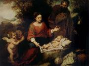 Bartolome Esteban Murillo Rest on the Flight into Egypt oil painting picture wholesale