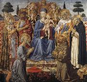 Benozzo Gozzoli The Virgin and Child Enthroned among Angels and Saints oil