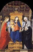 Bergognone The Virgin and Child Enthroned with Saint Catherine of Alexandria and Saint Catherine of Siena oil