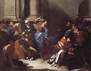 Bernardo Cavallino Christ Driving the Traders from the Temple oil painting artist