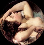 Brocky, Karoly Sleeping Bacchante oil painting