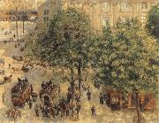 Camille Pissarro Place du theatre francais a paris oil painting picture wholesale