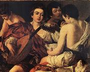 Caravaggio The Musicians oil painting picture wholesale