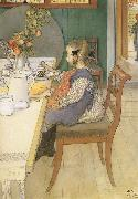 Carl Larsson A Late-Riser-s Miserable Breakfast oil painting picture wholesale