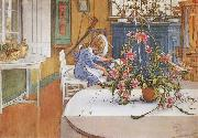 Carl Larsson interior with Cactus oil painting picture wholesale