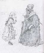 Carl Larsson Girl-s School in Grandma-s Day oil painting picture wholesale