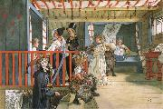 Carl Larsson Name Day at the Storage Shed oil painting picture wholesale