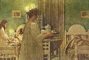 Carl Larsson Lucia Morning oil painting picture wholesale