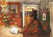 Carl Larsson Karin,Reading oil painting picture wholesale