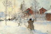 Carl Larsson The Front Yard and the Wash House oil painting picture wholesale
