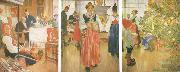 Carl Larsson Now it-s Christmas Again oil painting picture wholesale