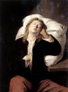 David Ryckaert Man Sleeping oil