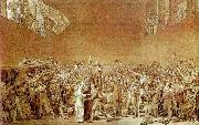 David, Jacques-Louis The Oath of the Tennis Court oil painting picture wholesale