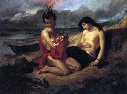 Delacroix Auguste The Natchez oil painting artist