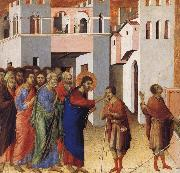 Duccio Jesus Opens the Eyes of a Man Born Blind oil painting artist