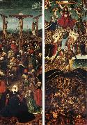 EYCK, Jan van Crucifixion and Last Judgment oil painting picture wholesale