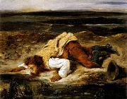 Eugene Delacroix A Mortally Wounded Brigand Quenches his Thirst oil painting picture wholesale