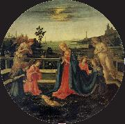 Filippino Lippi The Adoration of the Infant Christ oil painting picture wholesale