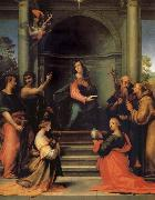 Fra Bartolomeo The Anunciacion, Holy Margarita, Maria Mary magdalene, Pablo, Juan the Baptist, Jeronimo and Francisco oil painting picture wholesale