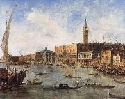 Francesco Guardi The Doge-s Palace and the Molo from the Basin of San Marco oil painting picture wholesale