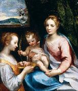 Francesco Vanni Madonna and Child with St Lucy oil painting picture wholesale