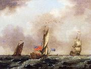 Francis Swaine A royal yacht and a merchantman in choppy seas oil painting picture wholesale