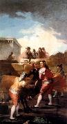 Francisco de goya y Lucientes Fight with a Young Bull oil painting picture wholesale