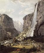 Franz Niklaus Konig The Fall of the Staubbach,dans the Vallee of Lauterbrunnen oil painting picture wholesale