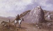 Frederic Remington The Rock of the Signature oil painting picture wholesale