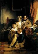 Friedrich von Amerling Rudolf von Arthaber with his Children oil painting picture wholesale