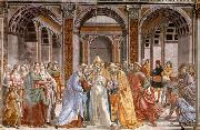 GHIRLANDAIO, Domenico Marriage of Mary oil painting picture wholesale