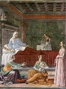 GHIRLANDAIO, Domenico Detail of Birth of St John the Baptist oil painting picture wholesale