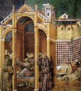GIOTTO di Bondone Apparition to Fra Agostino and to Bishop Guido of Arezzo oil painting picture wholesale