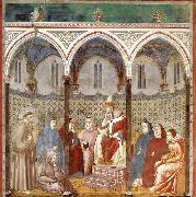 GIOTTO di Bondone St Francis Preaching before Honorius III oil painting picture wholesale