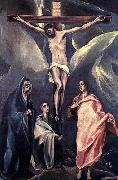 GRECO, El Christ on the Cross with the Two Maries and St John oil painting picture wholesale