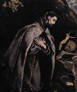GRECO, El St Francis in Prayer before the Crucifix oil painting picture wholesale