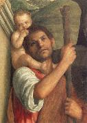 Gentile Bellini Detail of Saints Christopher,Jerome,and Louis oil painting picture wholesale