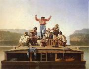 George Caleb Bingham Die frohlichen Bootsleute oil painting picture wholesale