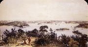 George French Angas The City and Harbour of Sydney oil painting picture wholesale